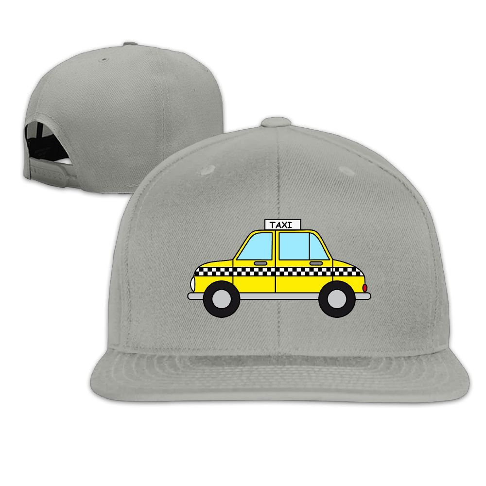 Jusxout Yellow Taxi Car Snapback Unisex Adjustable Flat Bill Visor Dad Hat