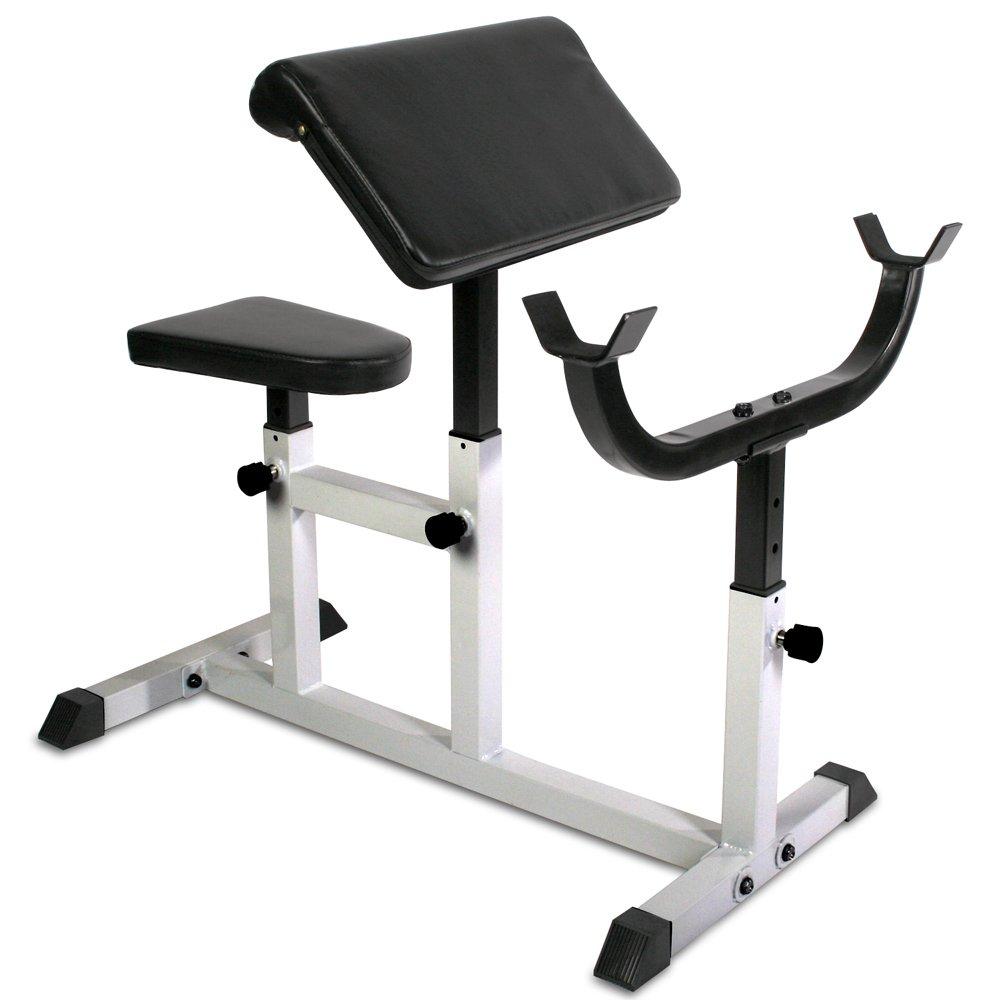 Physionics HNTLB09- Banco de biceps curl - con apoyabrazos y asiento regulables product image