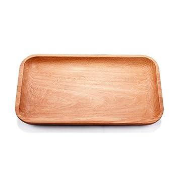 telpal bandejas de madera bandeja para servir, decorativo, servir platos para té café vino
