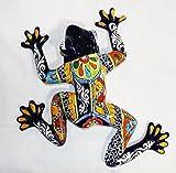 Talavera Medium Wall Frog - 15'' W X 15.5'' L (Blue Body)