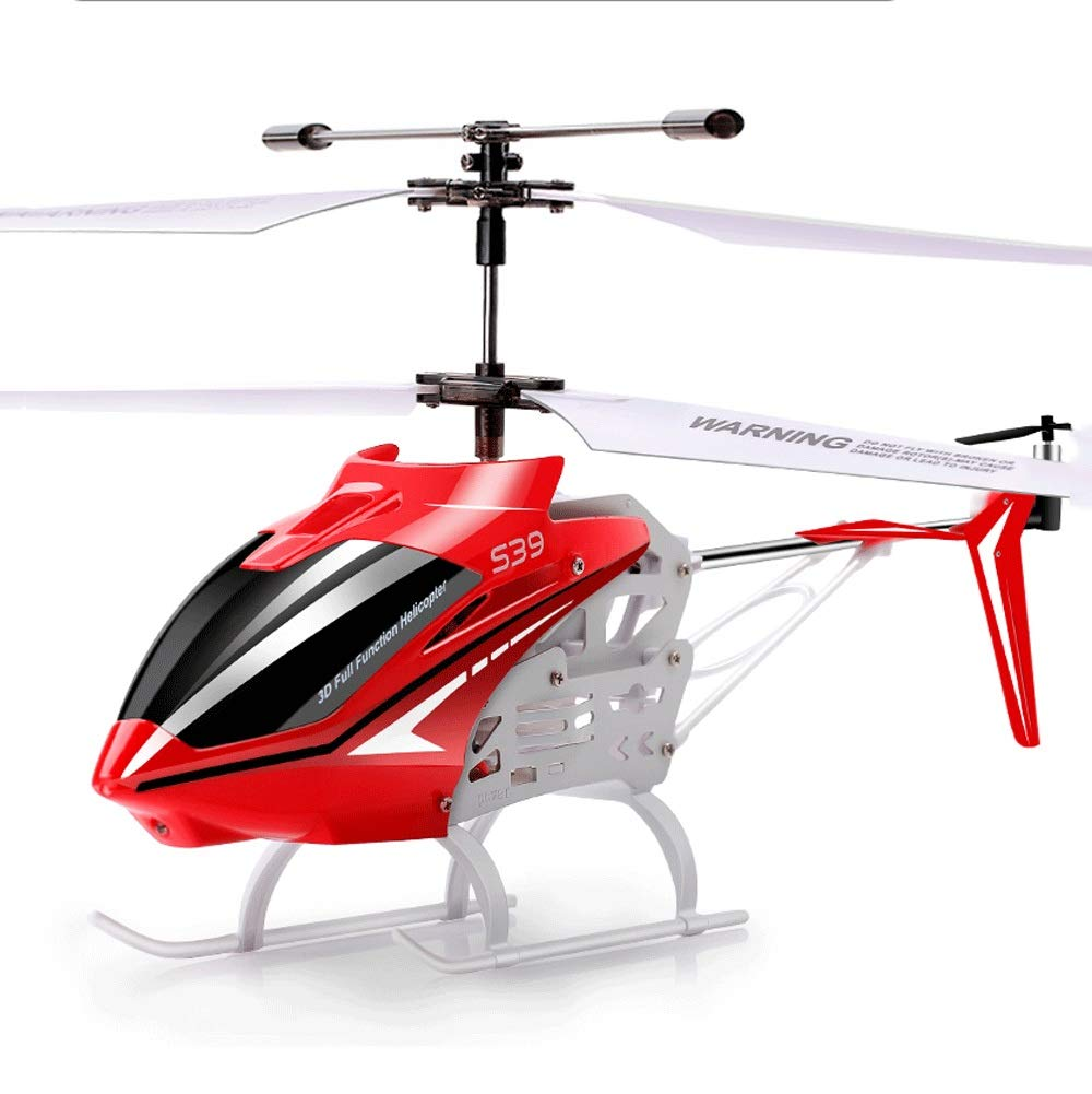 Zenghh RC Helicopter Drone Toy Multiplayer Game Alloy Frame Charging and LED Light Child Boy Remote Control Aircraft Indoor Outdoor Drop Rocker Model Gyro Mini Large Preferred Gift