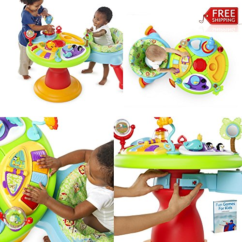 Baby Exersaucer Activity Center 3 in 1 Toys Seat Best Play Saucer Chair Fun Walker And eBook By NAKSHOP by NAKSHOP