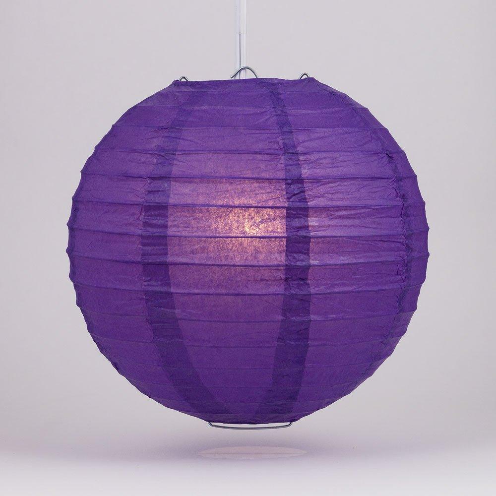 球体ペーパーランタン うね織り模様 ぶらさげるのに(電球は別売り) 16 Inch パープル 16EVP-DPU 1 B00T5EB9NO 16 Inch|パープル(Royal Purple) パープル(Royal Purple) 16 Inch