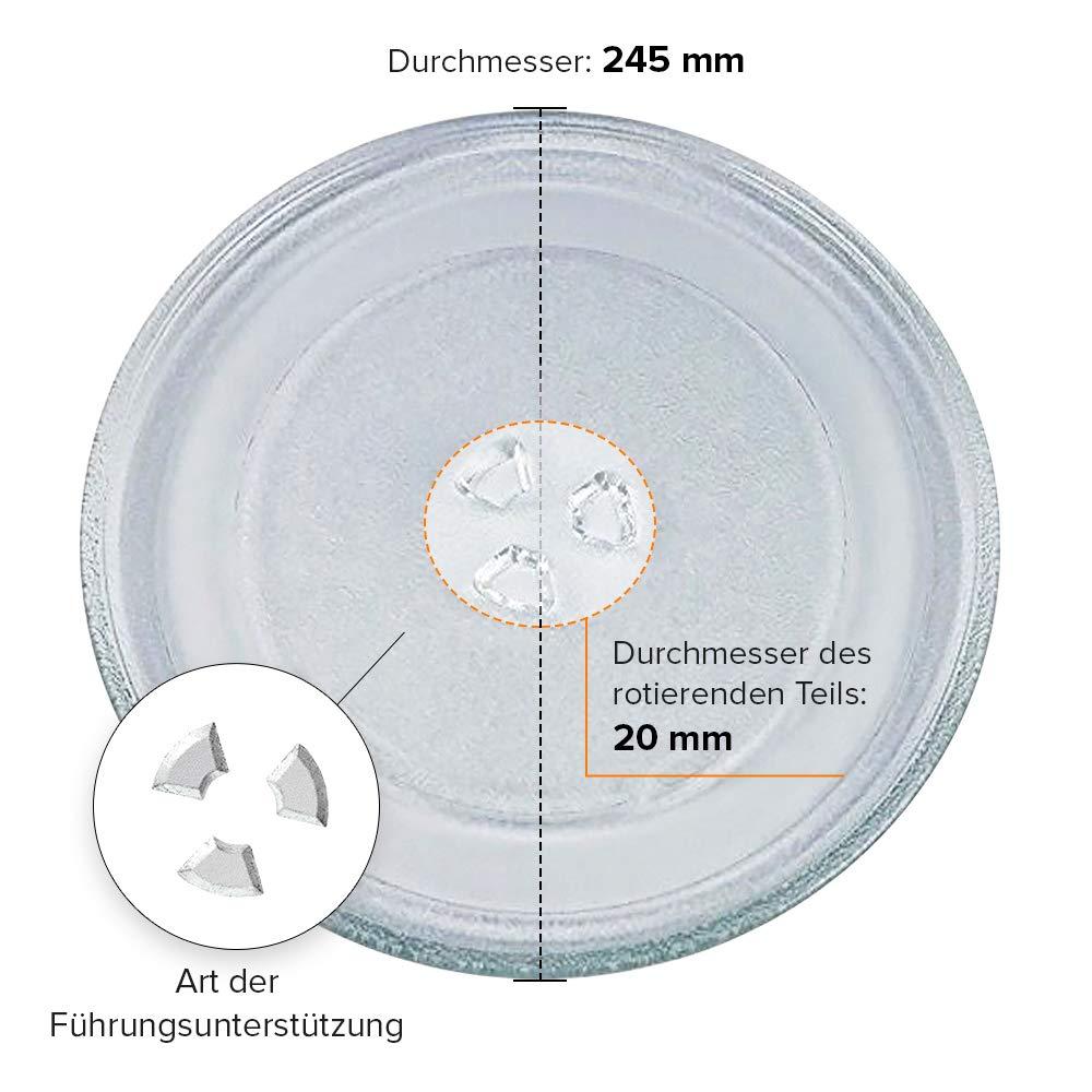 Plato giratorio para microondas 245 mm mit 3 Lampen