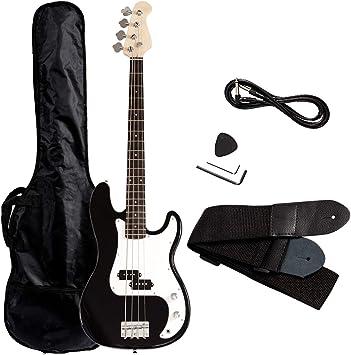 Amazon.com: Costzon - Guitarra eléctrica de 4 cuerdas para ...