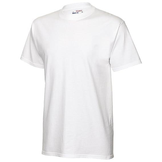 Hanes TAGLESS - Camiseta Básica de cuello de redondo de manga ...