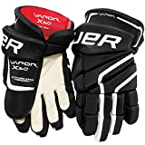 Bauer Junior Vapor X60 Glove, Black/White, 12