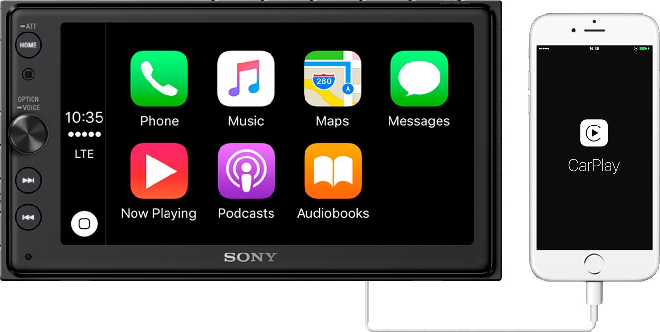 Sony XAV-AX100 6.4'' Car Play/Android Auto Media Receiver with Bluetooth