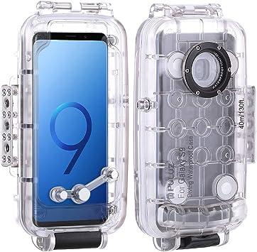 Docooler PULUZ 40m / 130ft Funda de Buceo a Prueba de Agua Funda Protectora para Smartphone Funda subacuática a Prueba de Golpes para Samsung Galaxy S9 /Plus: Amazon.es: Electrónica