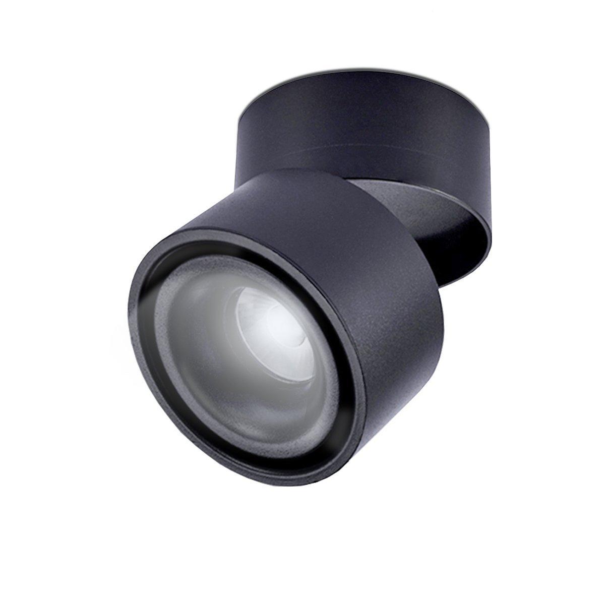 3000K blanc chaud,Plafonnier dint/érieur,10*10*10cm //Blanc LANBOS 10W plafonnier spot LED downlight,Aangle du corps de lampe r/églable