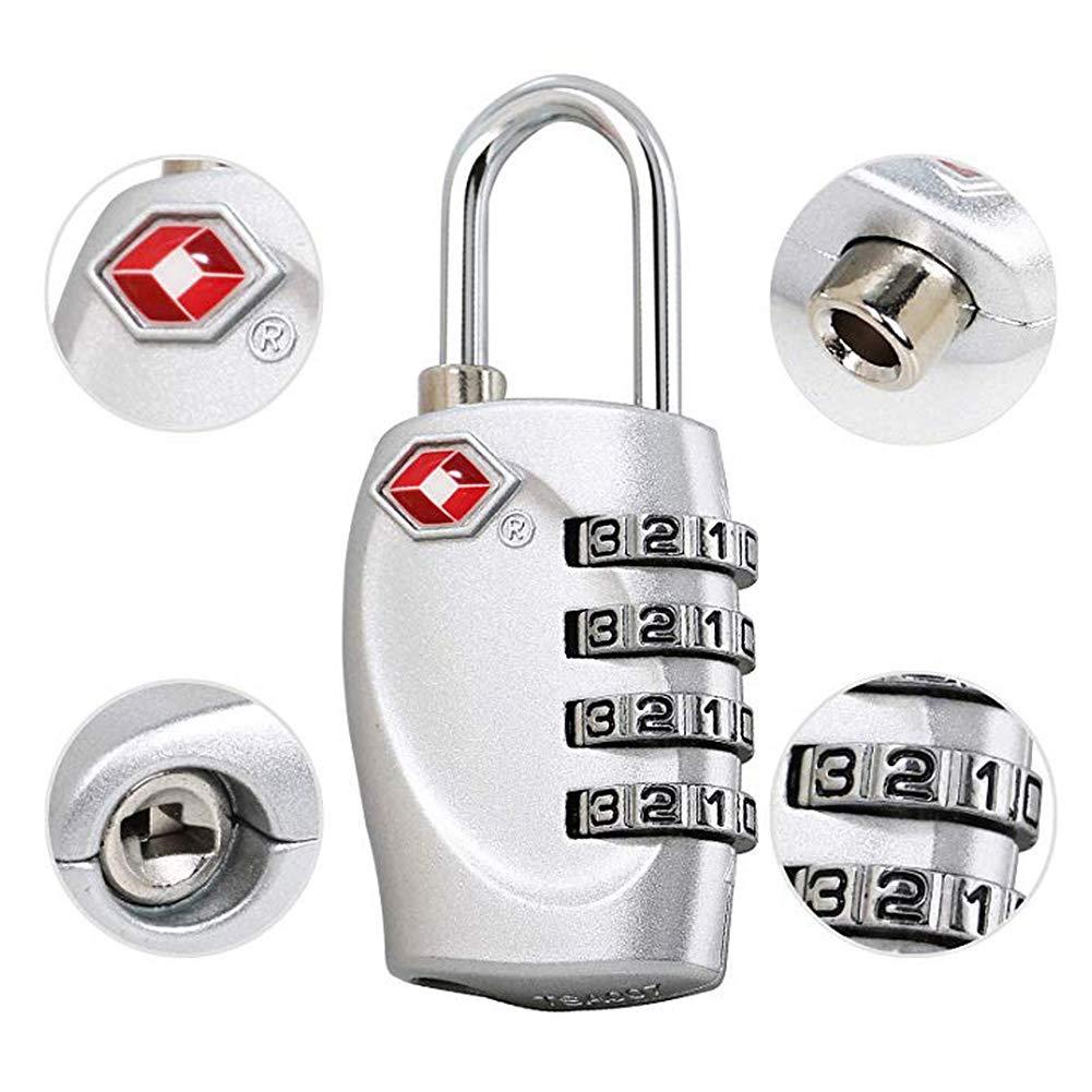 nero Qqdeal confezione da 2/approvato bagagli serrature TSA Lock password Lock sicuro lucchetto per valigie zaini valigie borse computer