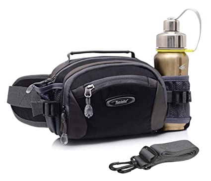 63657135cc46 Selighting Lumbar Waist Pack Bag Waterproof Hiking Fanny Pack with Water  Bottle Holder Running Hip Pack