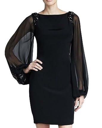 Dolamen Damen Kleider, Runder Ansatz Weinlese und Retro- Art, nehmen ...