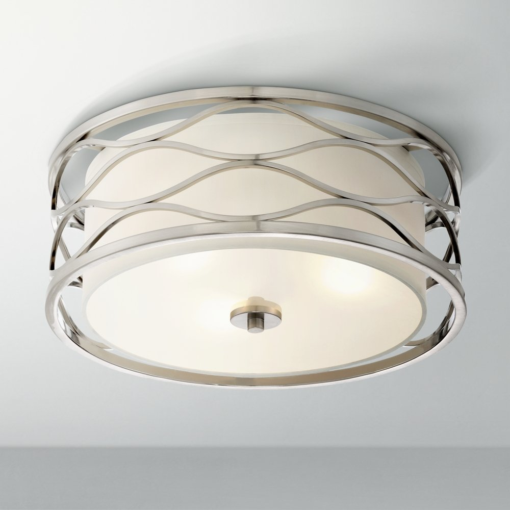 Austen 16 wide brushed nickel ceiling light amazon aloadofball Choice Image