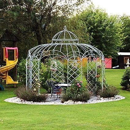 Carpa pabellón de jardín, Cenador de metal, Cenador, hierro Carpa Roma Diámetro 350 cm (Hierro Blank): Amazon.es: Jardín