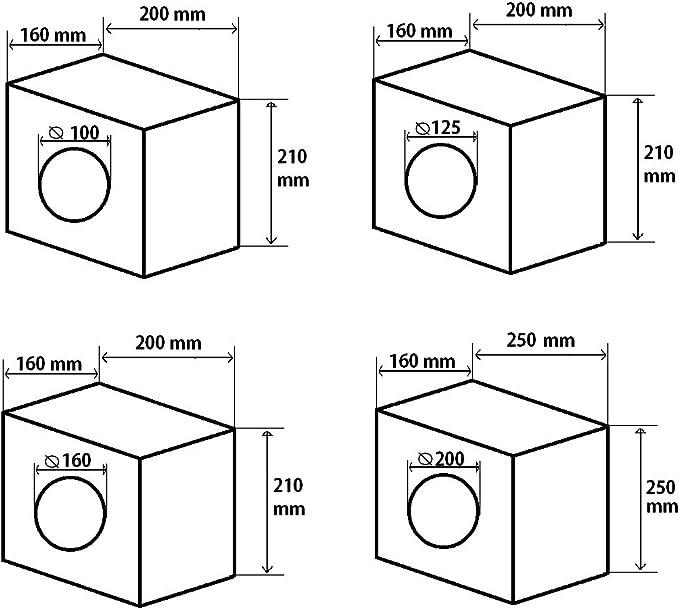 Rohr Einbaufilter L/üftung Filter Abluft Zuluft 200 mm Luftfilter Wickelfalzrohr