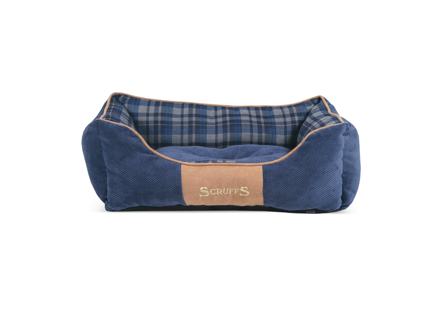 bluee Small,Box Bed bluee Small,Box Bed Scruffs 19.5  x 16  Highland Pet Box Bed, bluee
