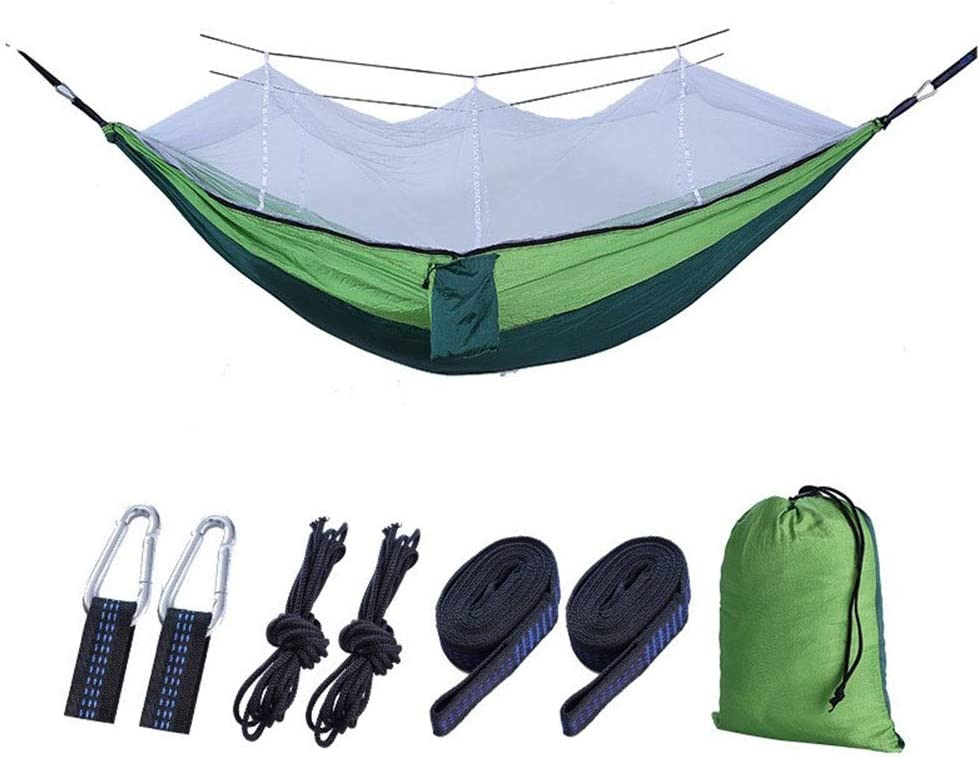 Columpio Al Aire Libre Cama Hamaca De Mosquito Equipo De Campamento Tela for Paracaídas Giratoria De Nylon 210T Producto Al Aire Libre ( Color : Light Green )