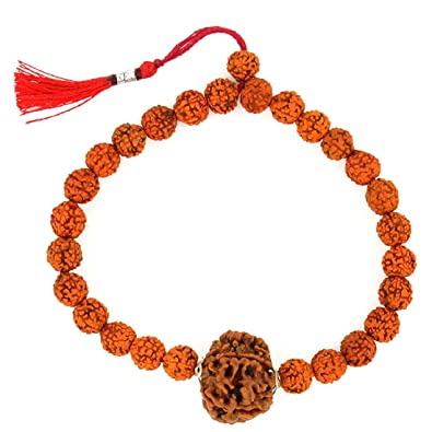 cff305e45a10a Buy Designer 5 Mukhi Rudraksha Bracelet Online at Low Prices in ...