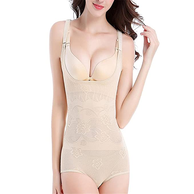 80f6d942eaf9e Image Unavailable. Image not available for. Color  Abroda Women s Shapewear  Firm Control Body Briefer Slimmer Body Shaper Bodysuits