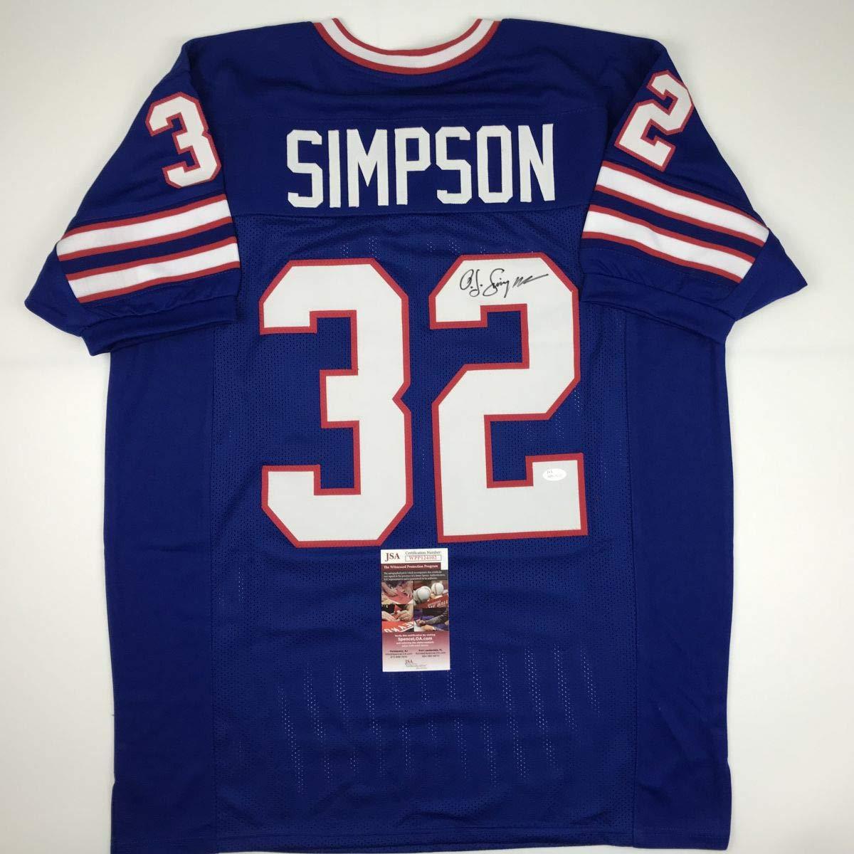 Buffalo Collectibles Amazon's Autographed Football O Oj signed At j Coa Jsa Blue Simpson Jersey Store Sports