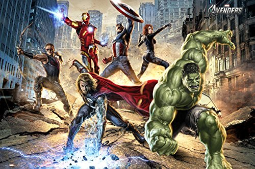 The Avengers - Marvel Movie Poster Strike By Stop Online
