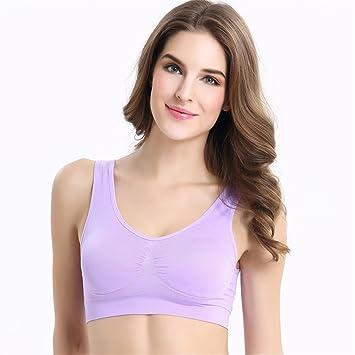 Comfort Bra Mujeres Niñas Sujetador de Yoga sin Costura de Gran tamaño Chaleco Sujetador Femenino Sujetador Sleep In Yoga: Amazon.es: Hogar