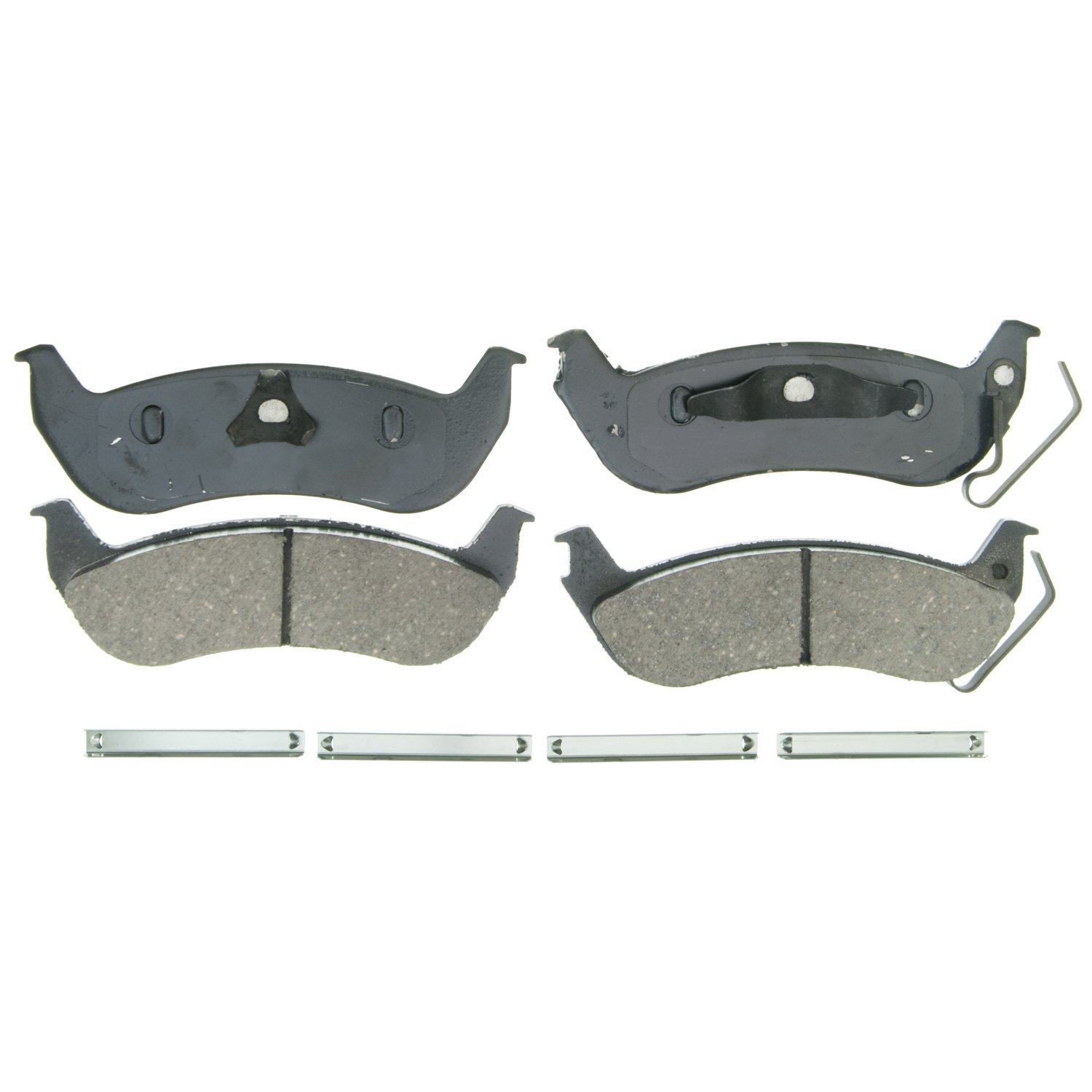 Rear Wagner Brake Wagner QuickStop ZD932 Ceramic Disc Pad Set Includes Pad Installation Hardware