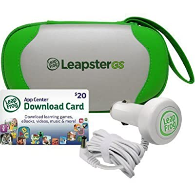 LeapFrog LeapsterGS Explorer Travel & Play Accessories Bundle, Green: Toys & Games