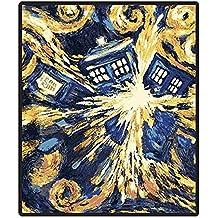 "Doctor Who Throw Blanket - Exploding TARDIS Pandorica Fleece - 50"" x 60"" Afghan"