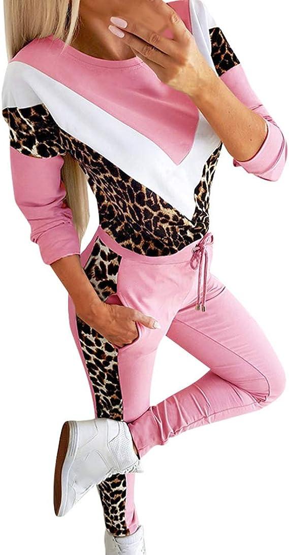 Chandal Conjunto para Mujer Casual Estampado de Leopardo ...
