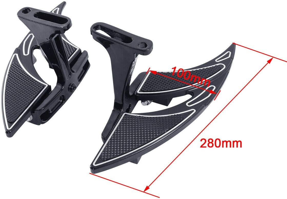 front /& rear set Green-L Black CNC Rider Passenger Footboard Floorboard Set Fit For Harley Touring Street Glide Road King Electra Glide 1993-2020