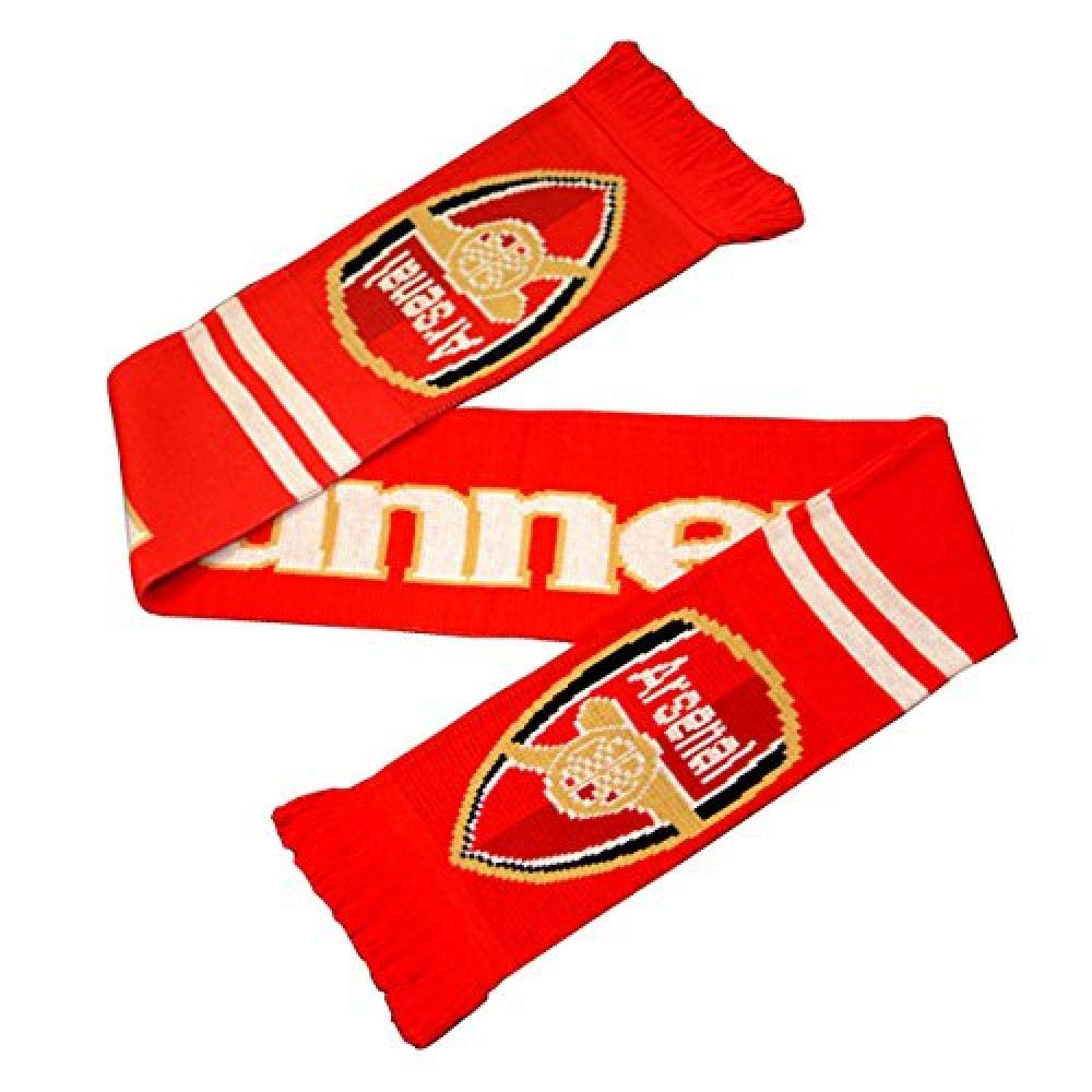 Arsenal FC 701 Gunners Jacquard Knit Scarf (One Size) (Red, yellow, white) UTBS1382_1
