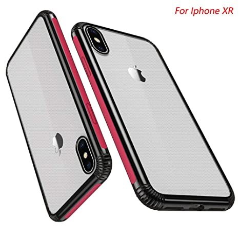 coque iphone xr rabat transparent rouge