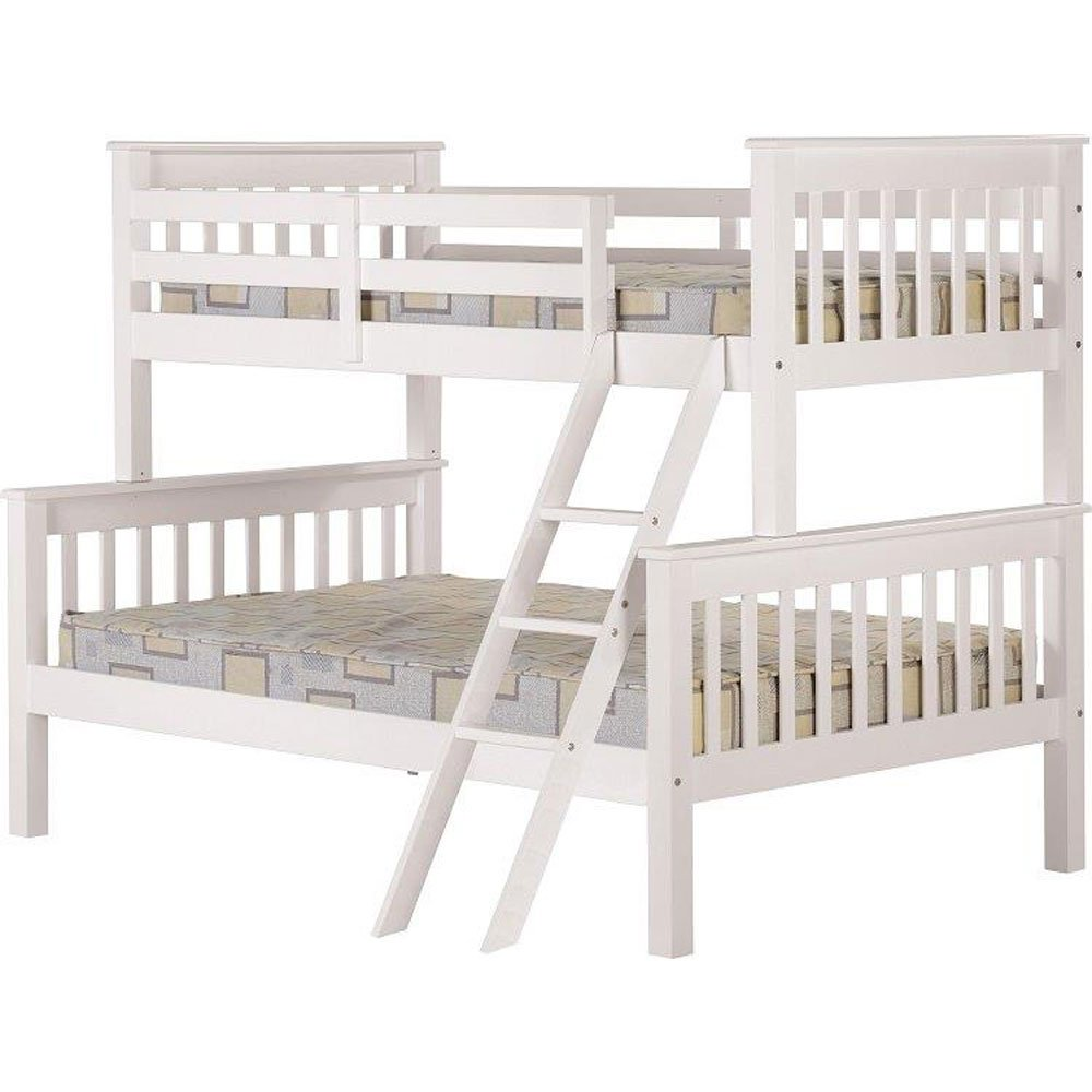 Neptune Bedroom Furniture Seconique Neptune Triple Sleeper Bunk Bed Frame In White Amazon
