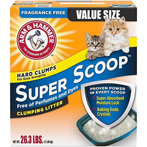 Arm & Hammer Super Scoop Clumping Litter, Fragrance Free 26.3lb