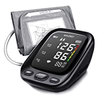 Blood Pressure Monitor Upper Arm, HYLOGY LED Touchable Button and Voice Broadcast...