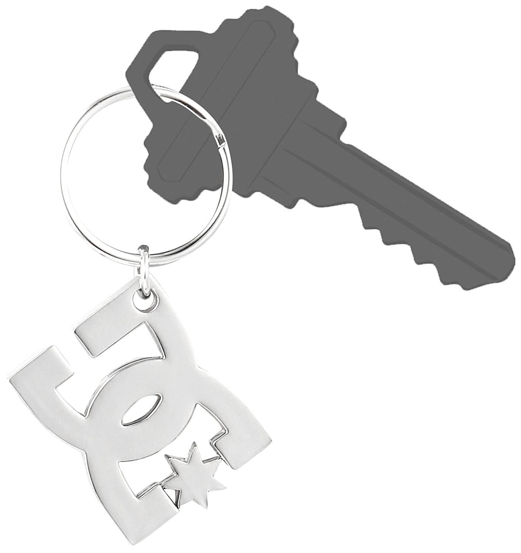 New DC Star Silver SIL Keychain