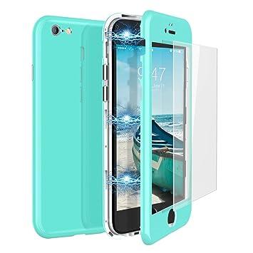 CE-Link Funda iPhone 6 Plus Funda iPhone 6s Plus y Cristal Templado iPhone 6 Plus/iPhone 6s Plus Carcasa 360 Grados 3 en 1 Magnética Macaron Case ...
