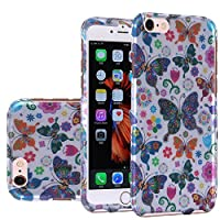 HR Wireless Cell Phone Case for Apple iPhone 6/6S - Retail Packaging - Colorful Butterfly Flower Polka Dot Floral