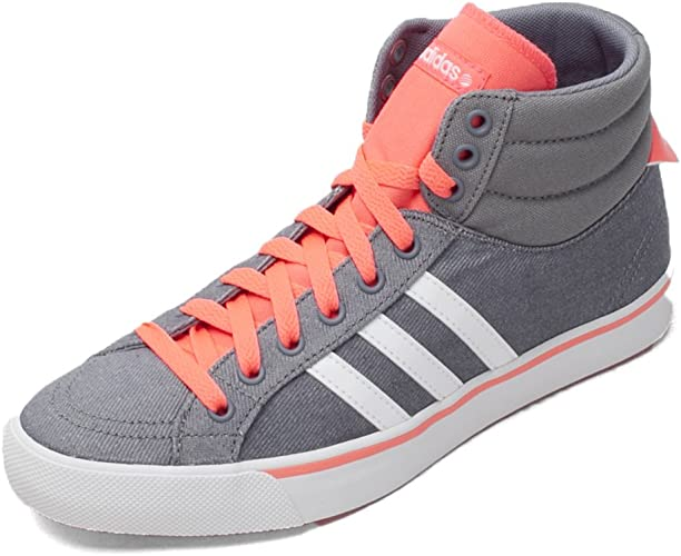 adidas Neo BB Park Mid Womens Hi Top Trainers Grey Pink UK Size ...