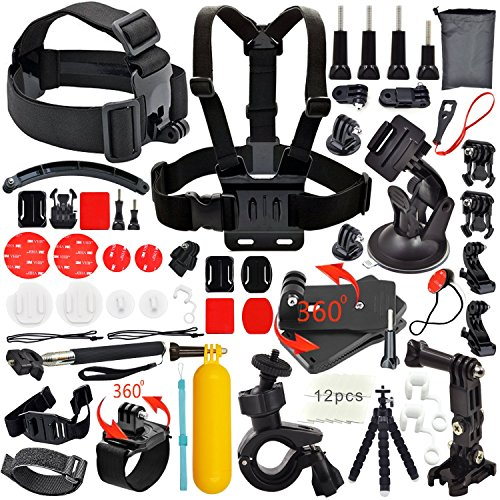 Common Foundation Accessories Kit for sj4000/sj5000 cameras and GoPro Hero 4/3+/3/2/1 Cameras in Parachuting Swimming