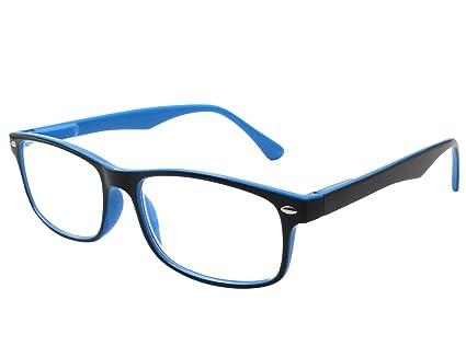 32f030f042 TBOC Gafas de Lectura Presbicia Vista Cansada - Graduadas +1.50 Dioptrías  Montura de Pasta Bicolor Azul y Negra Diseño ...