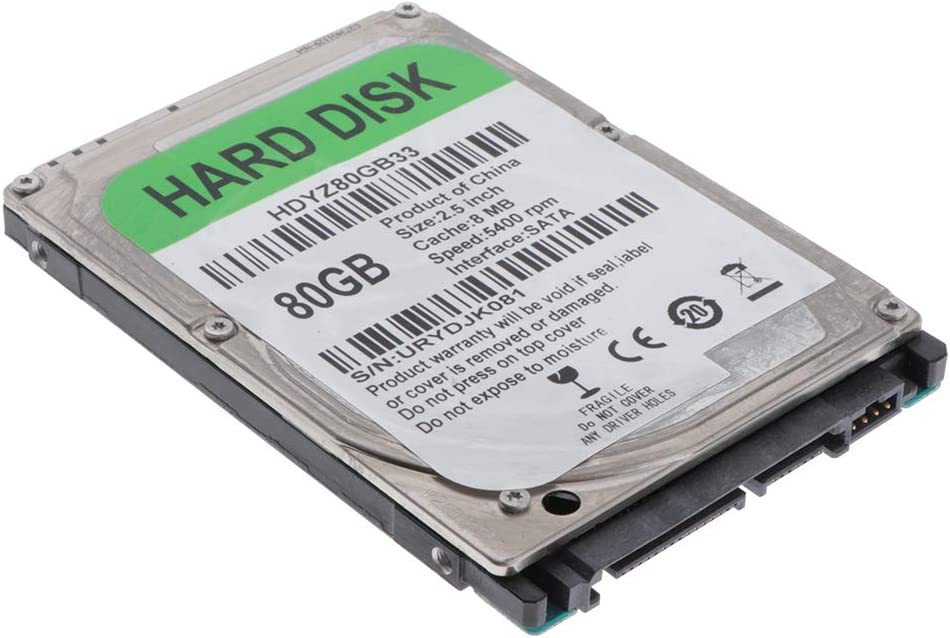 Almencla Disco Duro Mecanico HDD 250GB SATA 2 8M Unidad de Disco Duro Interna de Alto Rendimiento para Computadora 80GB