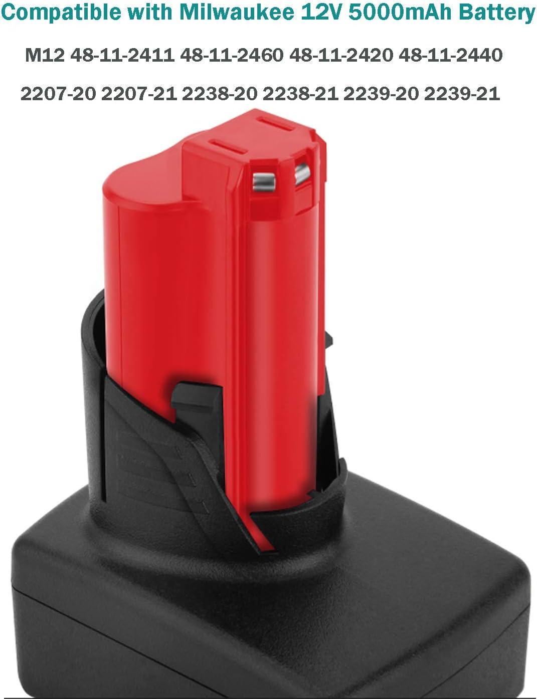 VANON Bater/ía de repuesto para Milwaukee m12 XC 48-11-2410 48-11-2420 48-11-2411 48-11-2401 48-11-2402