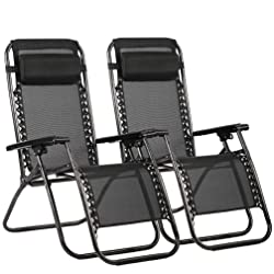 FDW Zero Gravity Chair - Set of 2 - 4 Colors