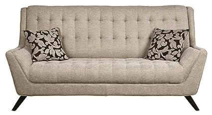 Coaster Natalia Contemporary Retro Sofa With Flared Arms, Dove Grey
