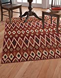 Abacasa Sonoma Backgammon Rust/Red Area Rug Review