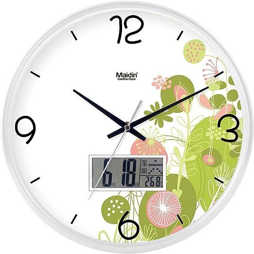 CURRENT Moderne Mute numérique Horloge Murale Joli Petit ...
