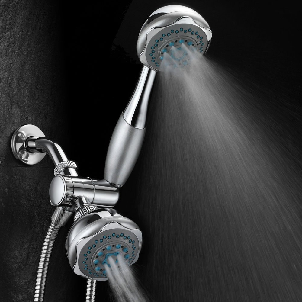 Hydroluxe Deluxe 24 Setting Dual Shower Head Combo image-2
